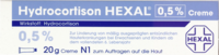 HYDROCORTISON HEXAL 0,5% Creme - 20g