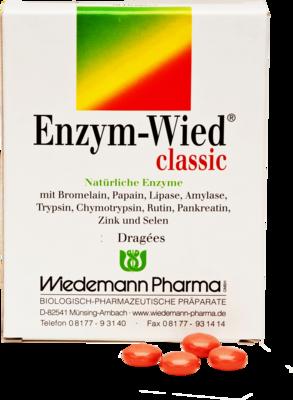 Wiedemann Pharma GmbH Mit Bestandteilen wie den Enzymen Bromelain, Papain, Lipase, Amylase, Trypsin, Chymotrypsin und Pankreatin sowie Rutin, Zink und Selen in einer klassischen bewährten Zusammensetzung (Kombination): Schützt die Zellen vor oxidativem Stress und trägt zu einer normalen Funktion des Immunsystems bei. Inhaltsstoffe: (pro Dragee) Bromelain 65 mg, Papain 80 mg, Lipase 10 mg, Amylase 10 mg, Trypsin 24 mg, Chymotrypsin 1 mg, Rutin 33,5 mg, Pankreatin 50 mg, Zink 2,5 mg, Selen 10 µg T