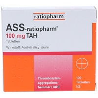 ASS-ratiopharm 100 mg TAH Tabletten - 100St