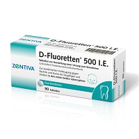 D FLUORETTEN 500 Tabletten - 90St - Calcium + Vitamin D3