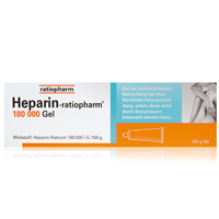 HEPARIN RATIOPHARM 180.000 I.E. Gel - 100g