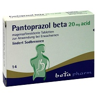 PANTOPRAZOL beta 20 mg acid magensaftres.Tabletten - 14St