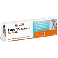 HEPARIN-RATIOPHARM 180.000 I.E. Gel - 150g