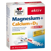 DOPPELHERZ Magnesium+Calcium+D3 DIRECT Pellets - 20St
