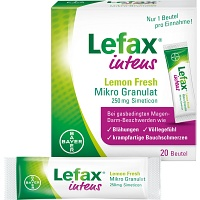 LEFAX intens Lemon Fresh Mikro Granul.250 mg Sim. - 20St