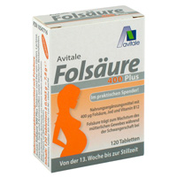 FOLSÄURE 400 Plus B12+Jod Tabletten - 120St